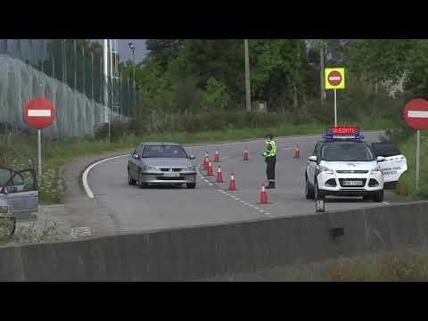 Control de la Guardia Civil en los accesos a Vigo