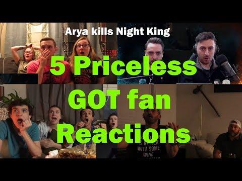 Priceless Game Of Thrones Fan Reactions : Arya kills Night King