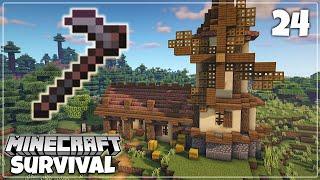 Netherite Hoe & Farm Build | Minecraft 1.16.2 Survival Let's Play