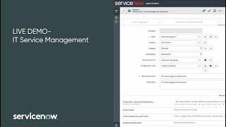 Live Demo: IT Service Management