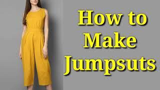 Jumpsuit cutting & stitching in hindi | Jumpsuit बनाने का सरल तरीका सीखें |