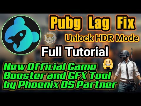 🔥 Pubg Lag Fix | Unlock HDR | New Official GFX Tool by