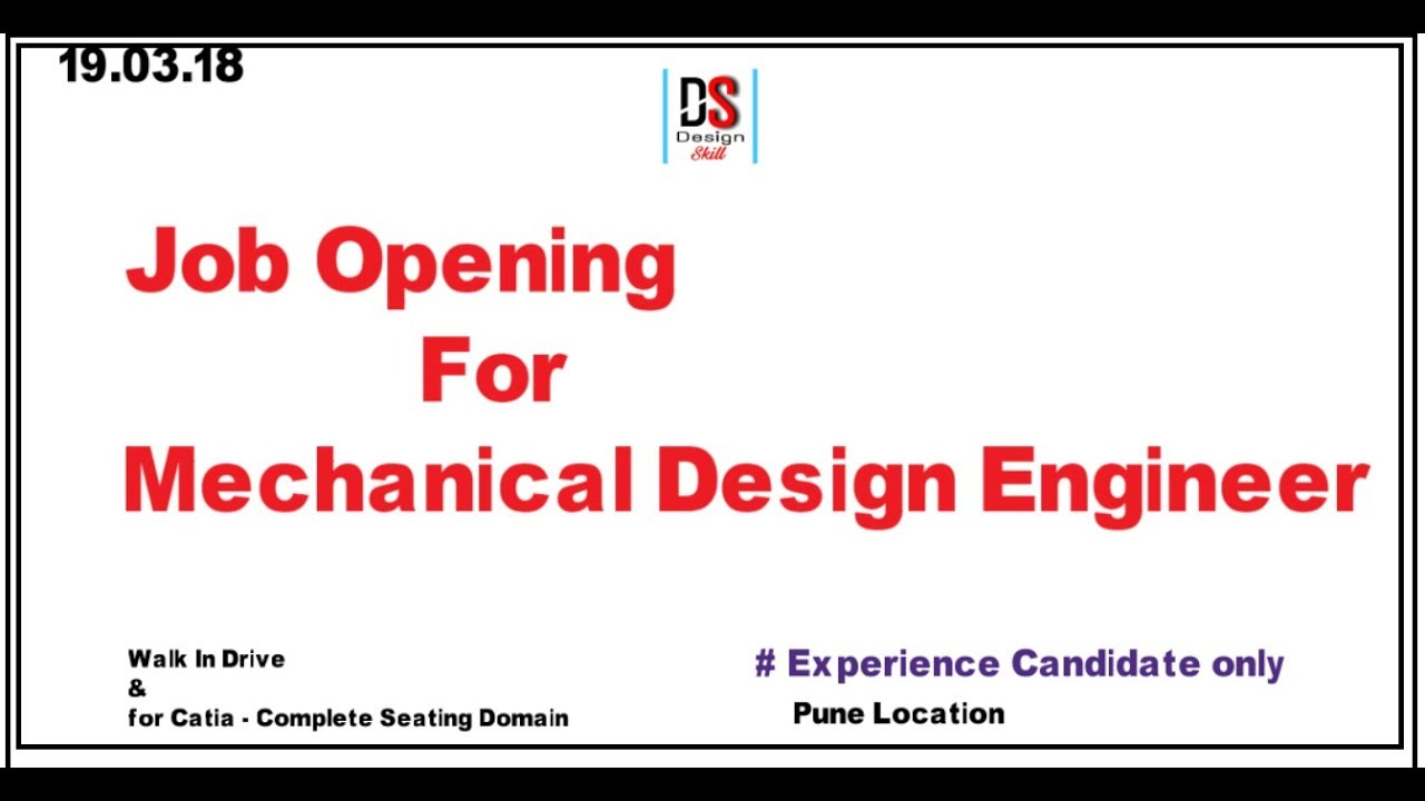 Job Opening For Mechanical Design Engineer Youtube