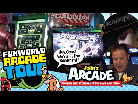 FUNWORLD Arcade Tour - Nashua, NH - Galaxian 3, Time Crisis 5, Doodle Jump Arcade, and more!
