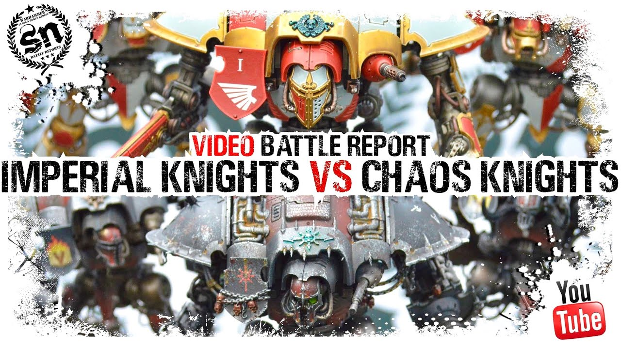 *NEW RULES* Imperial Knights vs Chaos Knights - Warhammer 40k Battle Report