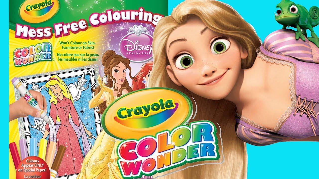 Disney Princess Crayola COLOR WONDER Magic Paint Glitter Pack - YouTube