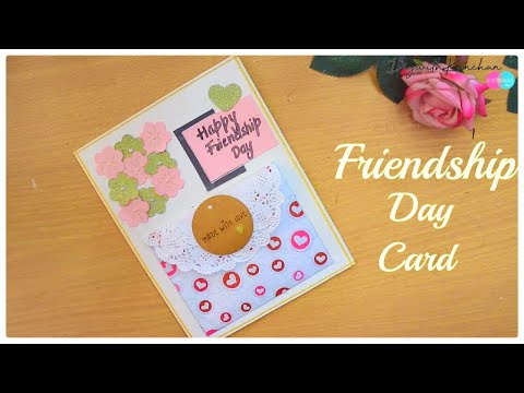 Friendship Day Card Idea | How To Make Friendship Card | Easy Greeting Card  Friends| diywithkanchan