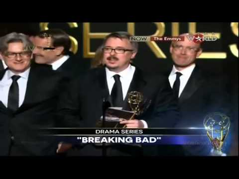 EMMYS 2014 - Breaking Bad WINS EMMY AWARD FOR OUTSTANDING DRAMA SERIES [HD]