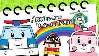 How to draw Rescue Team? | Robocar Poli | Kids animation