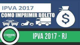 IPVA 2017 RJ - como imprimir/puxar/acessar boleto para pagar