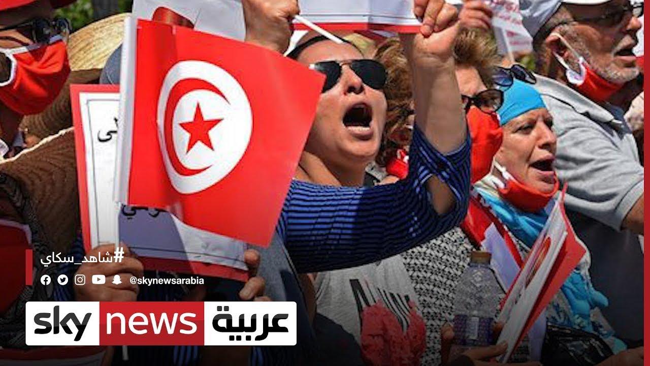 وقفة احتجاجية أمام مقر النقابة الوطنية للصحفيين التونسيين لإدانة الاعتداءات بالعنف | #مراسلو_سكاي  - 21:55-2021 / 10 / 14