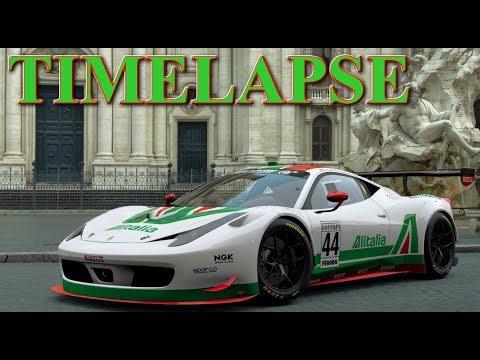 GT SPORT LIVERY TIMELAPSE ALITALIA FERRARI 458
