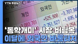 '동학개미' 시장 버팀목...이달에 외국…