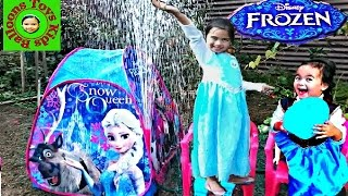 DISNEY FROZEN Movie Videos 2016 Easter Eggs Hunt Playtent Fountain Surprise Toys Fun Activities