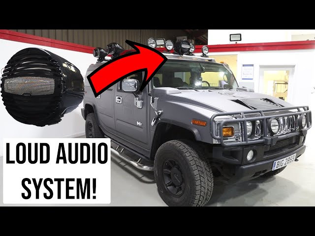 Hummer H2 LOUD PA/AUDIO SYSTEM | Cannon Run