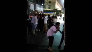 Trashy Hood Fight Downtown Cincinnati