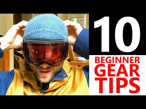 10 Beginner Snowboard Gear Tips