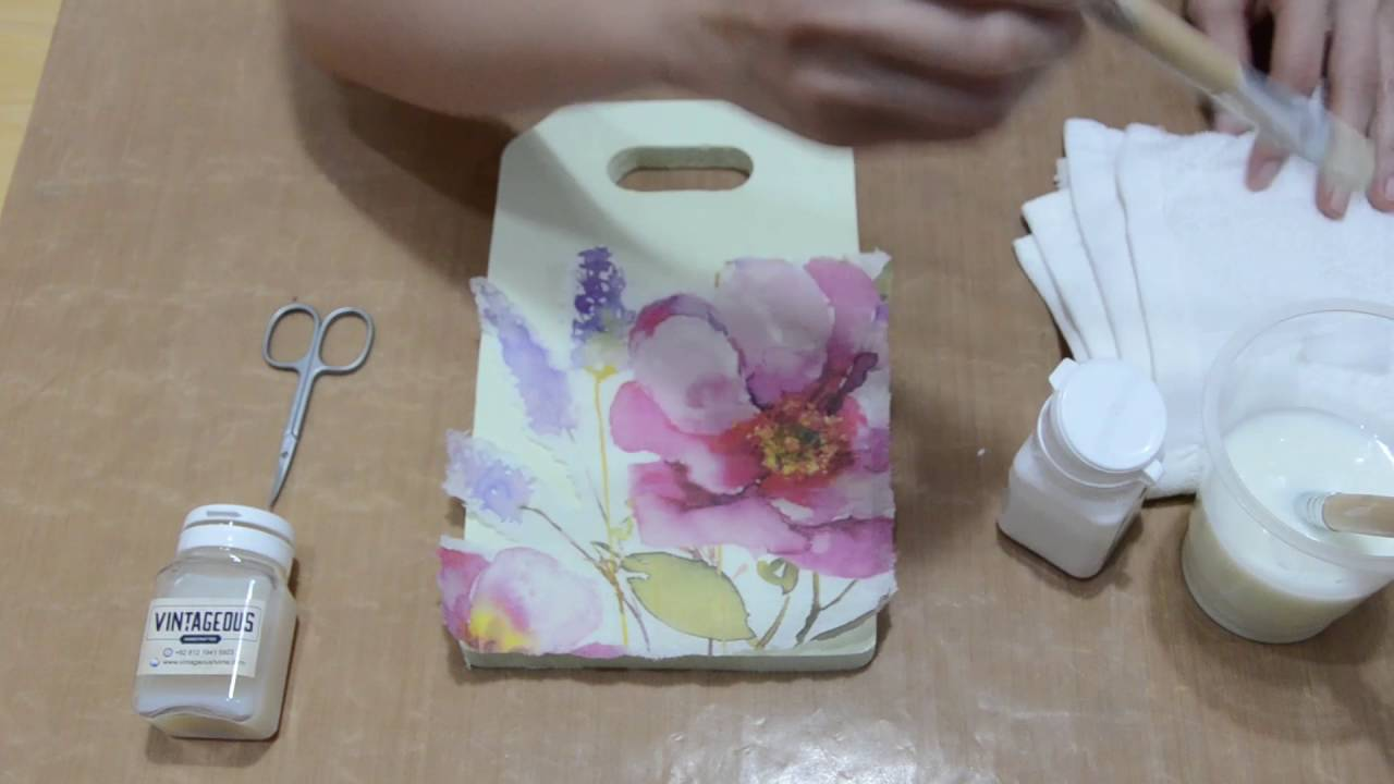 Tutorial basic decoupage di media kayu talenan  YouTube