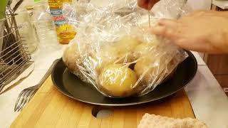 Вкусный картофельный салат - отличный гарнир к соленой рыбе! Картошка в мундире за 10 минут!