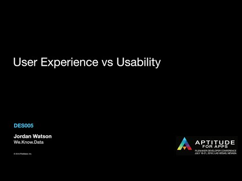 User Experience vs. Usability by Jordan Watson