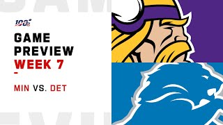 Minnesota Vikings vs. Detroit Lions Week 7 NFL Game Preview