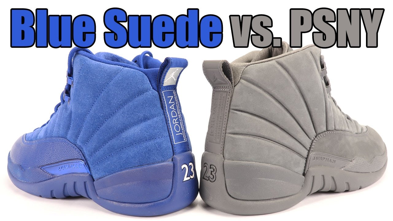 Blue Suede vs PSNY Air Jordan 12 Comparison - YouTube f7f8ca4c0