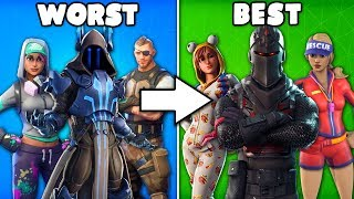 FORTNITE COMMUNITY RANKS ALL BATTLEPASS SKINS FROM WORST TO BEST... (1,000 PLAYERS VOTED)