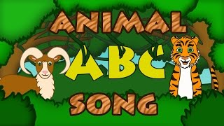 ABC ANIMALS SONG Learn ABC Song Animal Songs for Kids Preschool by 123ABCtv