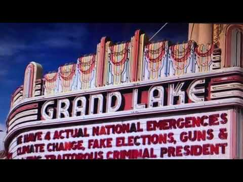 Grand Lake Theater Oakland Marquee Blasts Trump National Emergency