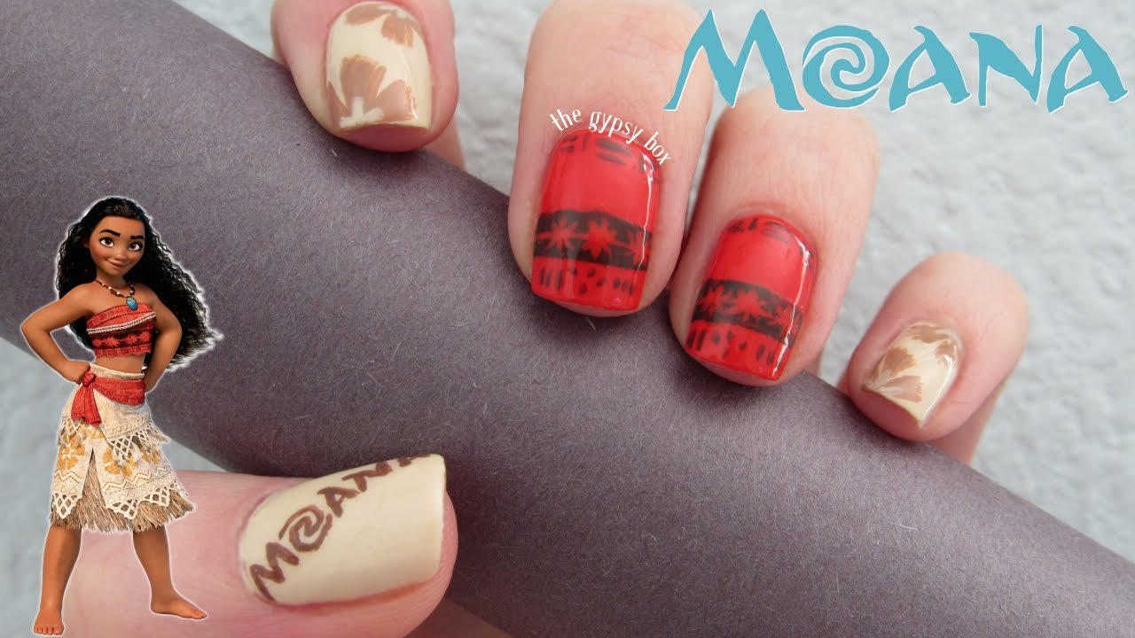 "Disney's ""Moana"" Nail Art Design"