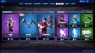 *NEW*Talons Dual Pickaxe & Kuno Skin Back ! Fortnite Item Shop June 19, 2019