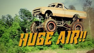 HUGE AIR - TRACK RACES - MUD DRAGS!! Wheels a Churnin Augusta Motorsports Park