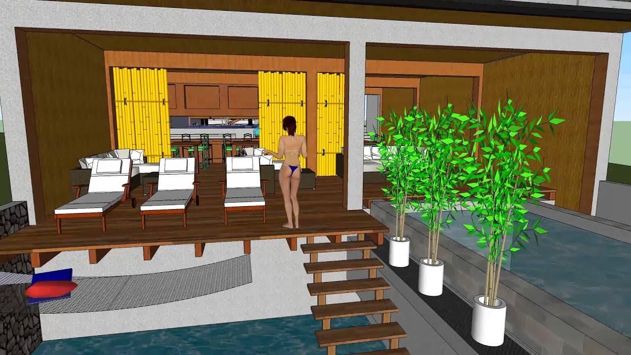 piscina, bar, bungalow - youtube