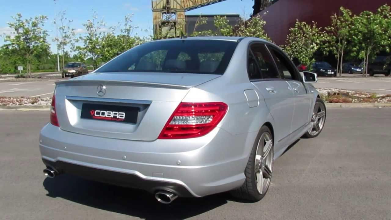 Mercedes c class 200 220 250 07 13 350 dual exit cobra for Mercedes benz c300 exhaust