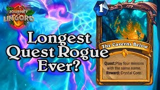 🍀🎲 Longest Quest Rogue Ever? ~ Journey to Un'Goro ~ Hearthstone Heroes of Warcraft