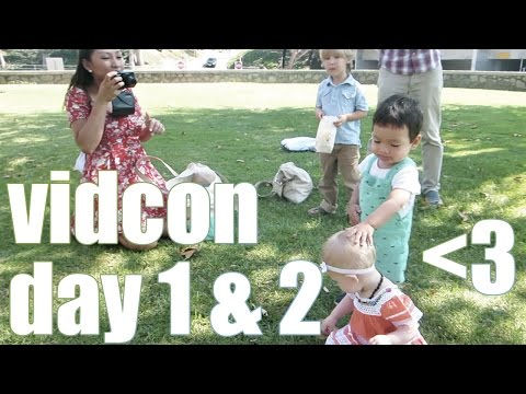 VidCon Family Picnic | Periscope & VLOG | VIDCON DAY 1 & 2 | while they were napping thumbnail