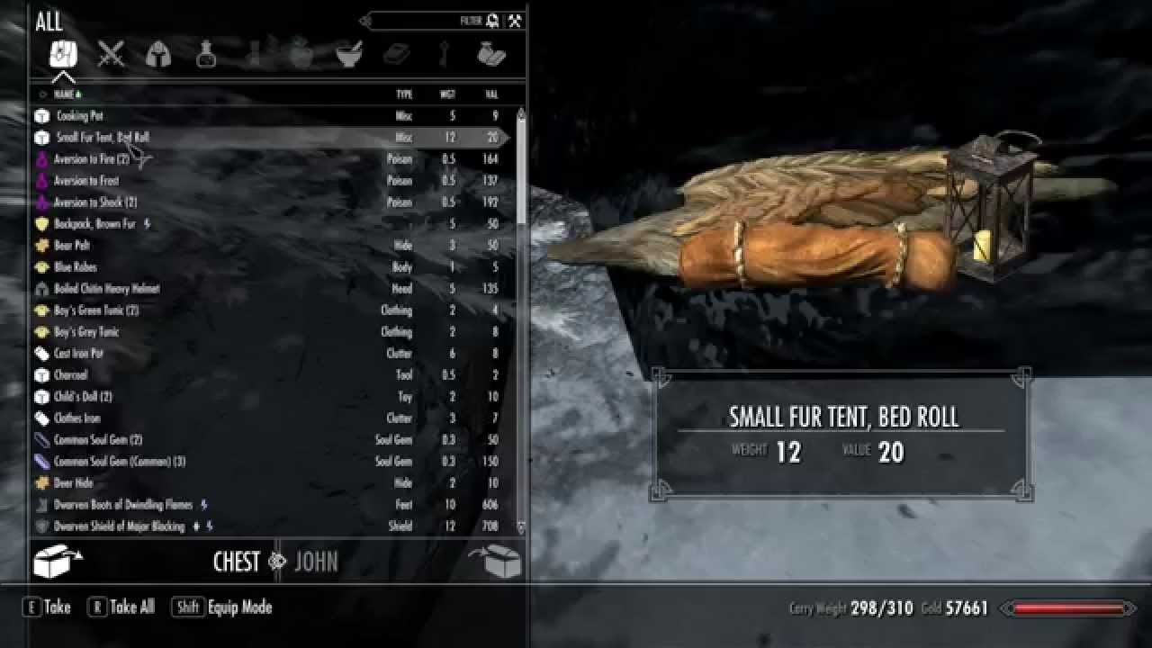 how to get a chest in skyrim