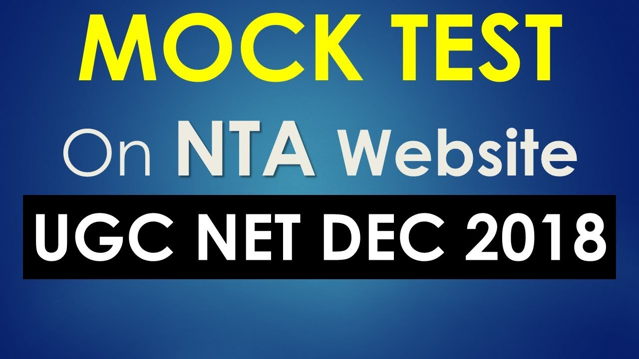 UGC NET Mock Test now open on NTA Website – See Video