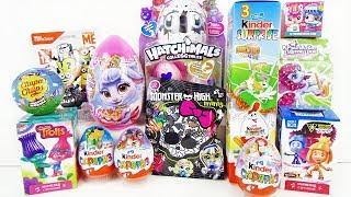 15 ОТЛИЧНЫХ СЮРПРИЗОВ! Monster High,Свинка Пеппа,ФИКСИКИ,Суперсемейка,ПОНИ Unboxing Kinder Surprise