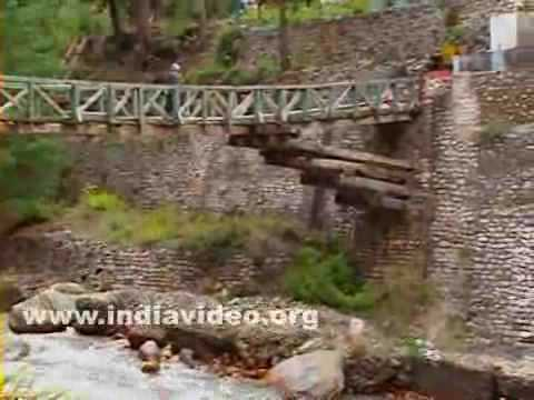 Stream and wooden bridge near Gangotri