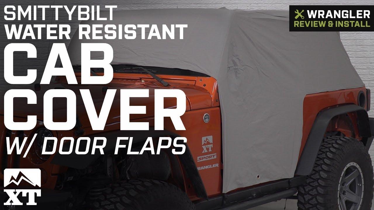 Smittybilt 1059 Gray Water-Resistant Cab Cover with Door Flap