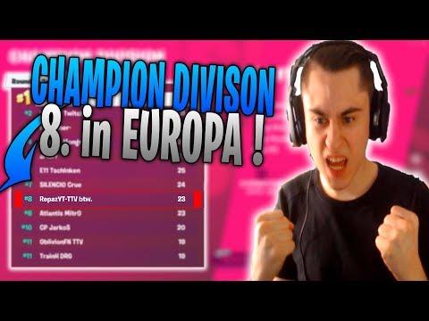 8. Platz in Europa!😱🔥 Spannendes Game in der Champion Division | Fortnite