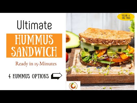 Ultimate Veggie Hummus Sandwich