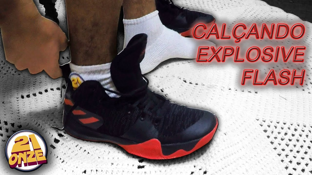 Calçando o tênis Adidas EXPLOSIVE FLASH (EXPLOSIVE FLASH on feet ... ffac21b9f35d2