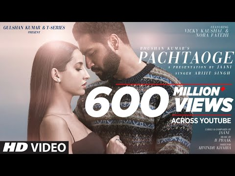 Arijit Singh song Pachtaoge: Vicky Kaushal and Nora Fatehi live out a tragic love story