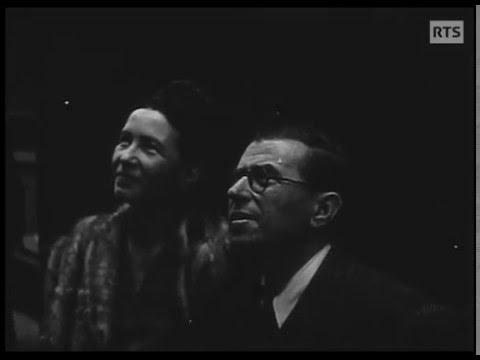 Jean-Paul Sartre et Simone de Beauvoir à Genève (1946)