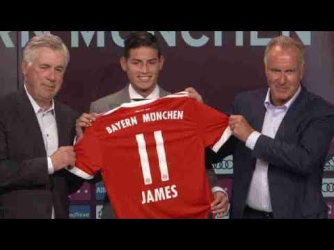 James Rodríguez presentado como nuevo jugador del Bayern Múnich