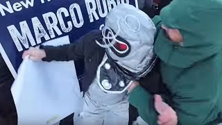 Rubio Mob Attacks Protesters Dressed As Robots