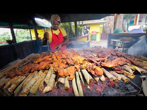Insane Jamaican Jerk BBQ!! HUGE MEAT PIT + Jerk Champion in Montego Bay, Jamaica! 🇯🇲