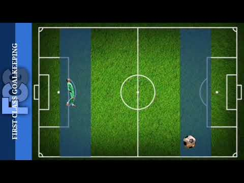How to work on goalkeeper positioning for a match Sweeper Keeper training coaching coming out.